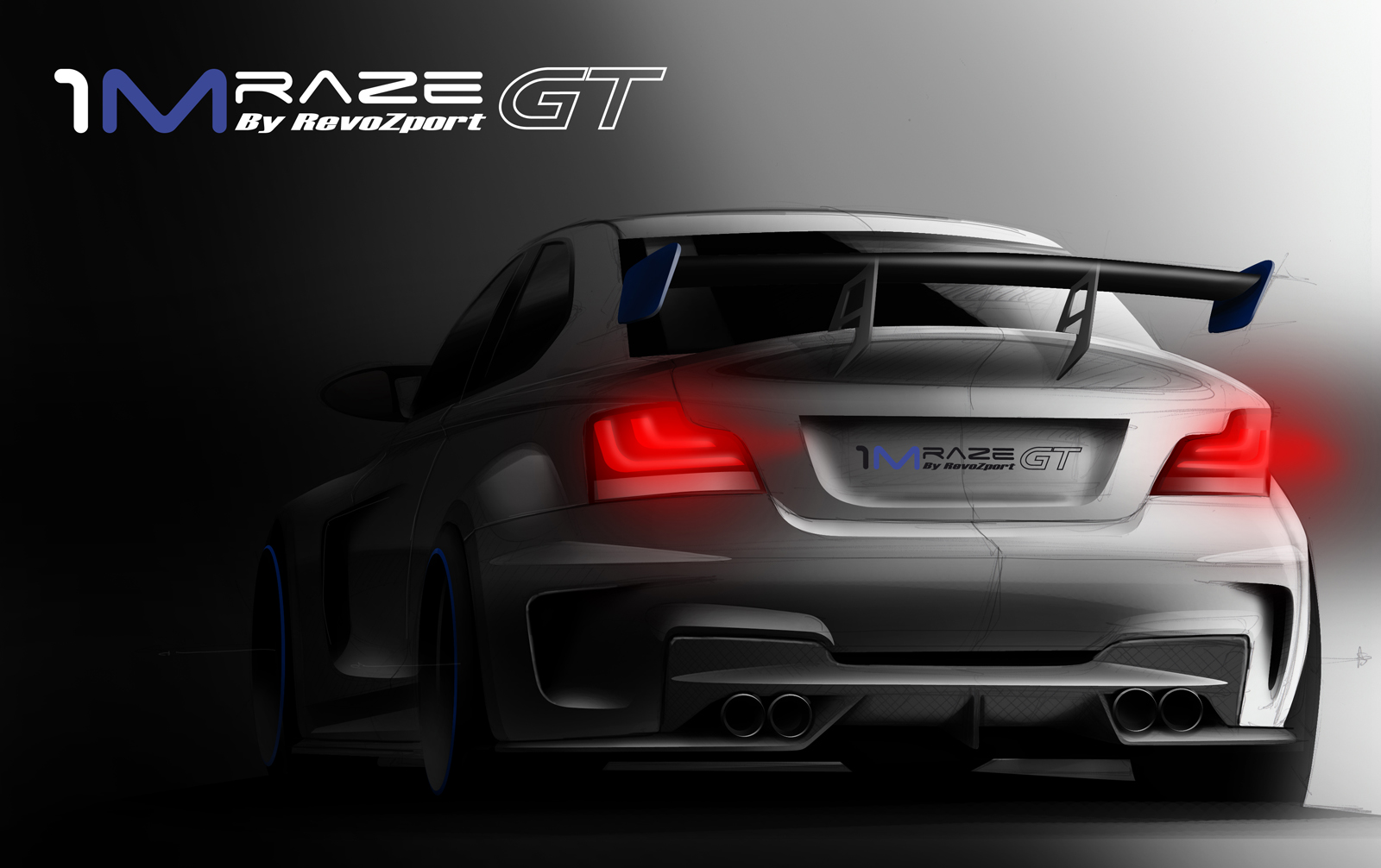 Teaser of BMW 1M Raze GT wide body kit