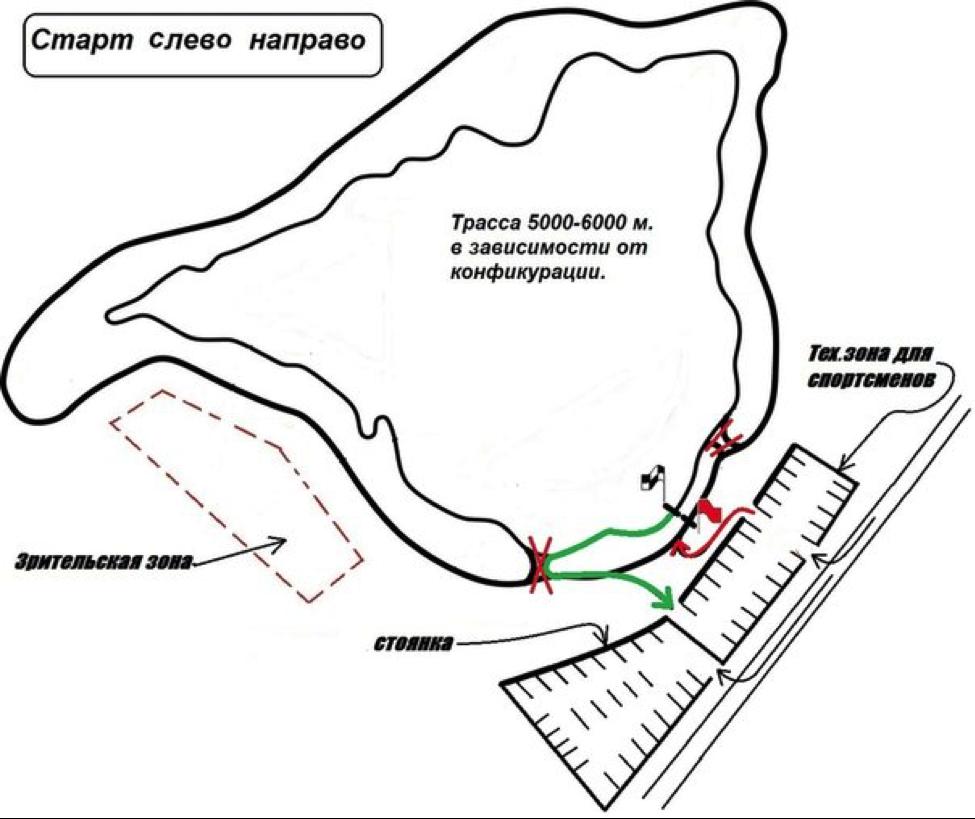 План трассы, ралли-спринт золотой декабрь 2014.